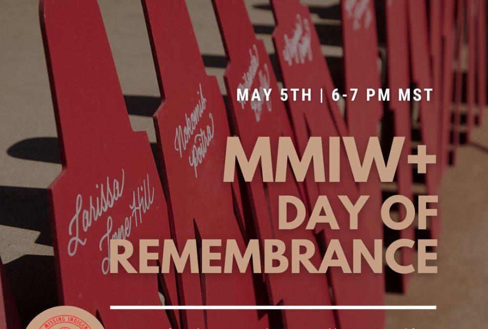 May 5th, 2021 MMIW+ Utah Day of Remembrance