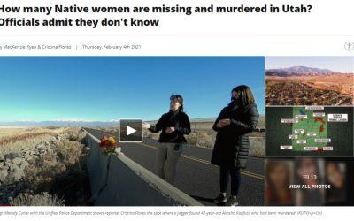 KUTV 2News Investigation MMIW+ Utah